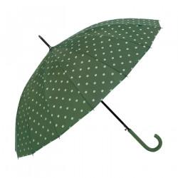 Paraguas Bastón Puntos Verde