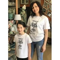 Camiseta Gato Zebra Kids