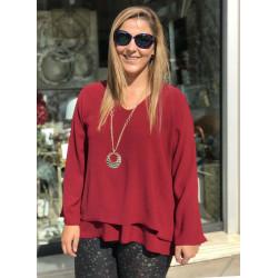 Blusa Calabria Rojo